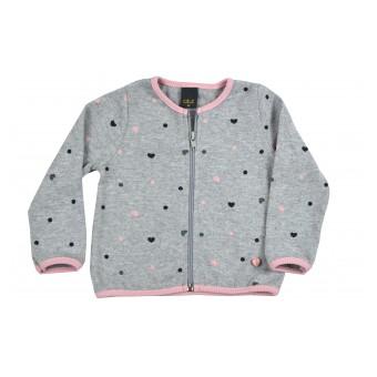 sweterek dziewczęcy długi zamek - A-9237