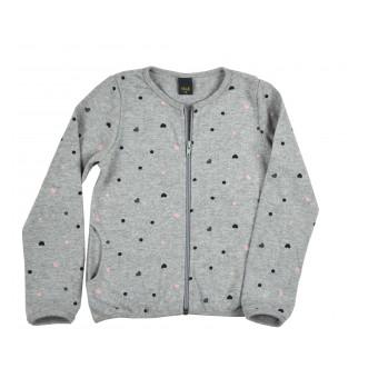 sweterek dziewczęcy długi zamek - A-9238