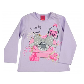 bluzeczka dziewczęca długi rękaw - AM-6847