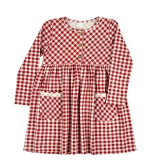 sukienka dziewczęca długi rękaw - A-9266