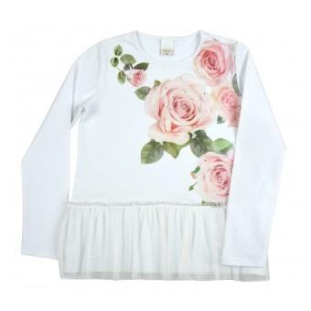 elegancka tunika dziewczęca długi rękaw - A-9258
