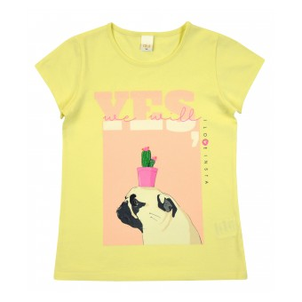 bluzka dziewczęca krótki rękaw - AO-8010