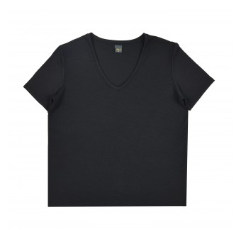koszulka oversize z dekoltem w serek - A-9362