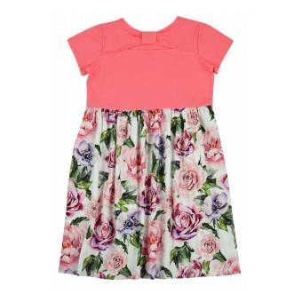 sukienka dziewczęca w kwiaty - A-9370