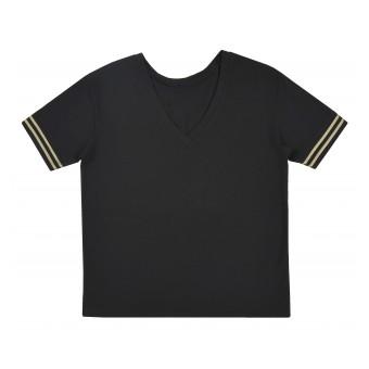 bluzka oversize z dekoltem w serek - A-9394