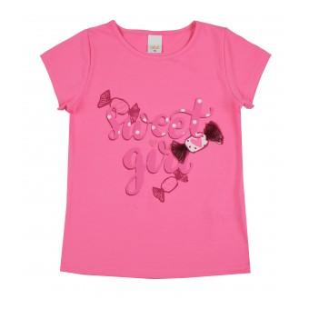 bluzka dziewczęca krótki rękaw - A-9428