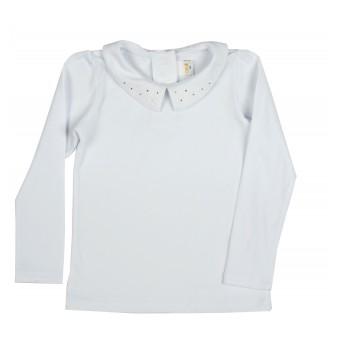 bluzka dziewczęca z kołnierzykiem - A-9480