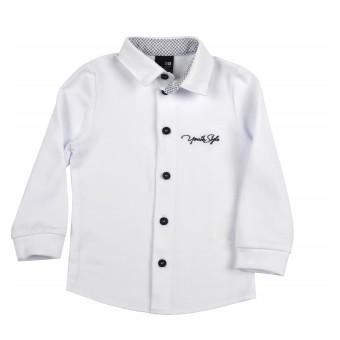 mięciutka koszula z dzianiny typu Lacosta - GT-8341