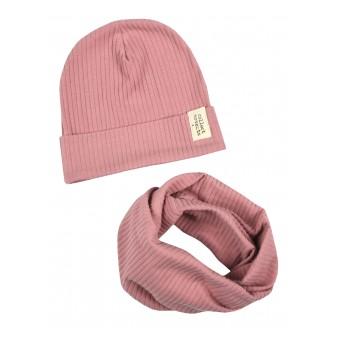 komplet dziewczęcy czapka + komin - A-9589
