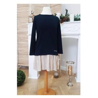 sukienka z błyszczącym dołem - A-9669