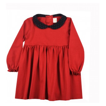 sukieneczka dziewczęca z kołnierzykiem - A-9677