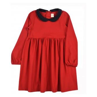 sukienka dziewczęca z kołnierzykiem - A-9678