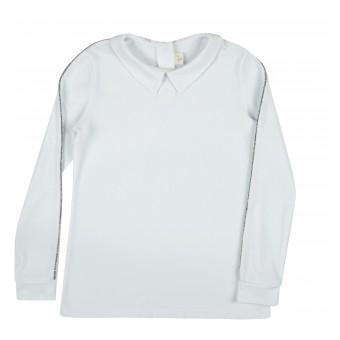 bluzka dziewczęca długi rękaw z kołnierzykiem - A-9724