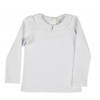 bluzka dziewczęca  z kołnierzykiem - A-9728
