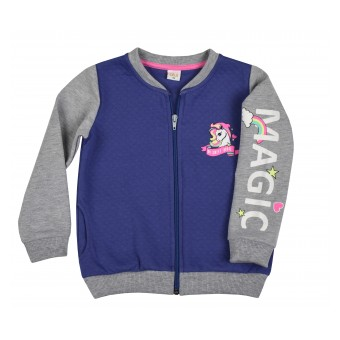bluza dziewczęca długi zamek - AJ-8593