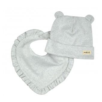 komplecik dziewczęcy czapka+chusta