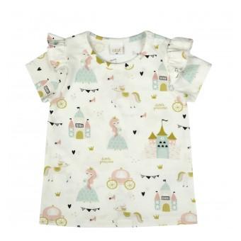 bluzeczka dziewczęca krótki rękaw - A-9950