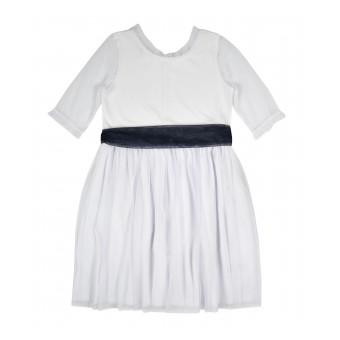elegancka sukienka z tiulem - A-9986