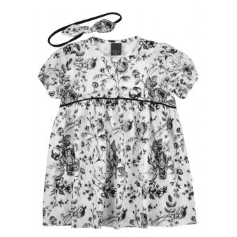 sukieneczka dziewczęca z opaską - A-9904