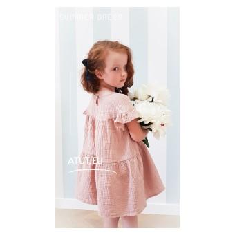 sukienka dziewczęca z muślinu - A-030