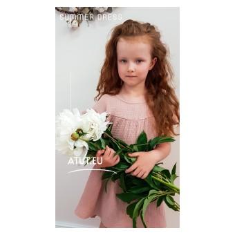 sukienka dziewczęca z muślinu - A-031