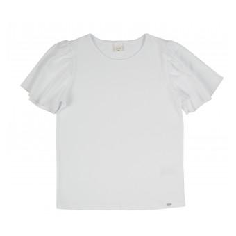 bluzka z ozdobnymi  rękawkami - A-085