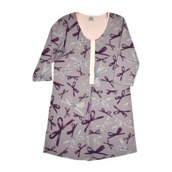 rozpinana koszula nocna z bawełny - AD-062